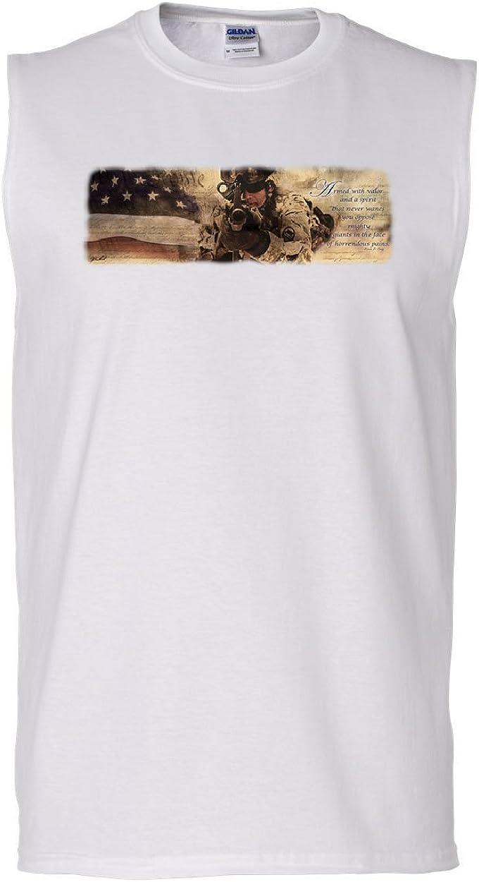 Tee Hunt United States Army Muscle Shirt Loyalty Respect Bald Eagle Pow Mia Sleeveless