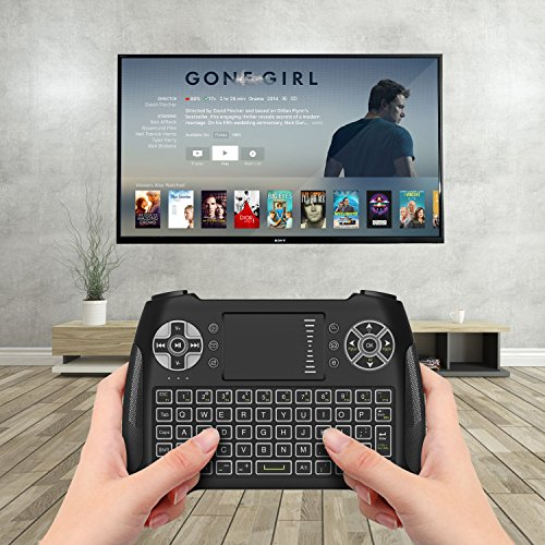 Mini Wireless Keyboard With Touchpad, Vive Comb 2.4G Rechargeable Backlit Handheld Remote Control Keyboard and Mouse Combo with Multimedia Keys for Android TV Box, PC, PAD, Smart TV, X-BOX, HTPC by vive comb (Image #6)
