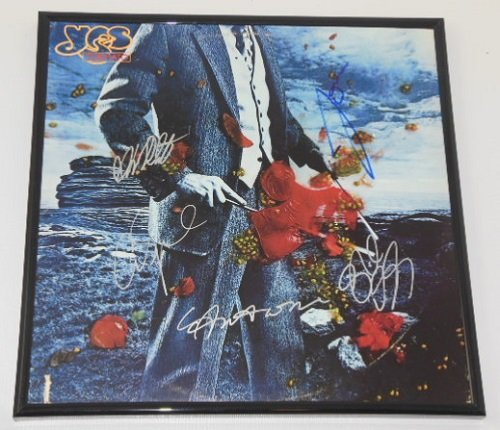 Yes Tormato Group Signed Autographed Lp Record Album with Vinyl Framed Loa