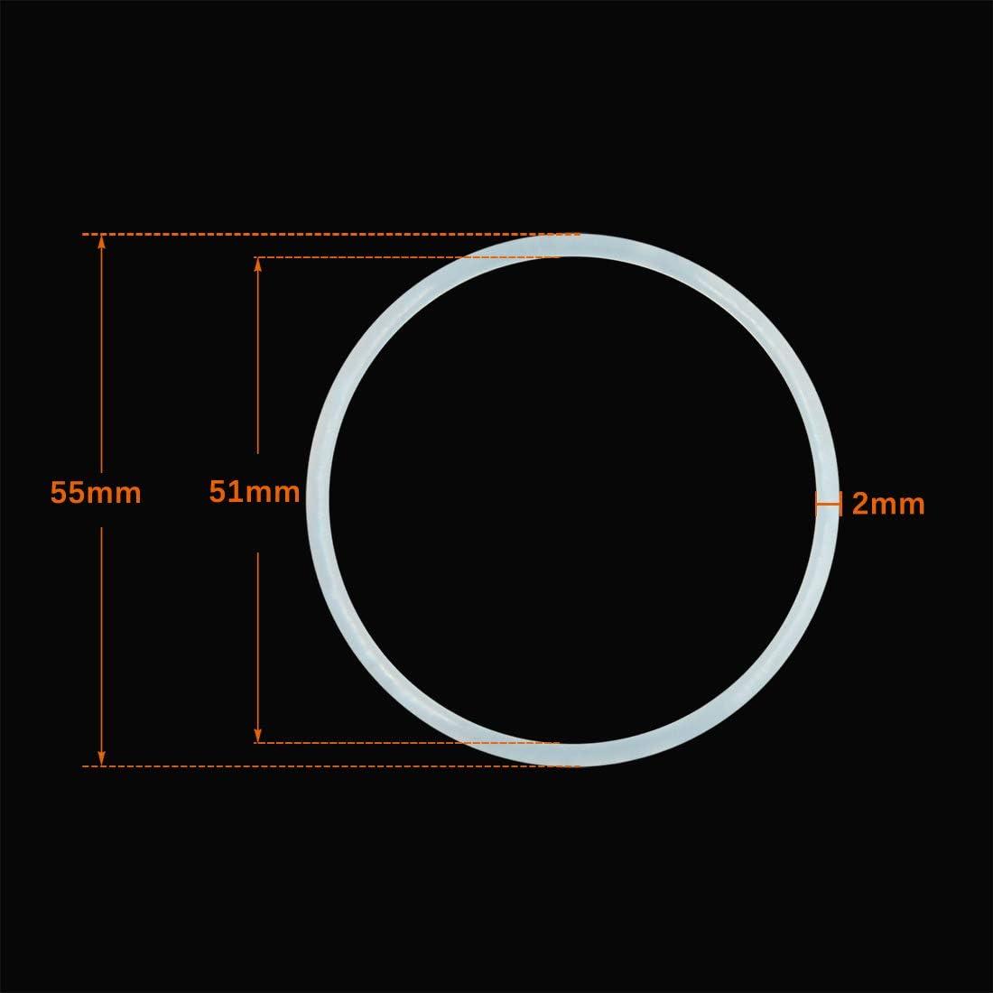 sourcing map 20 St/ück KFZ Klimaanlage Gummi O-Ring Reparatur Werkzeuge Dichtungen 55 x 2mm
