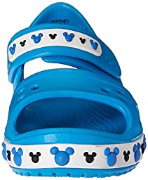 crocs Crocband II Mickey PS Sandal (Toddler/Little Kid), Ocean, 7 M US Toddler