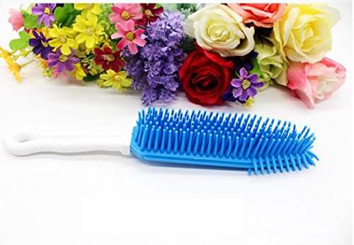 Pet Dog Cat Hair Remover Brush – Rubber Long Handle Grooming Brush for Pet Kitten Puppy Small Animal Hair Remove
