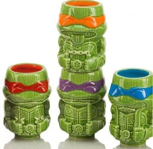 Teenage Mutant Ninja Turtles Geeki Tiki Mini Mug Set of 4, Loot Crate Exclusive, TMNT, Rare - Exclusive Turtle
