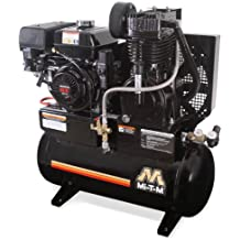 Mi-T-M AM2-SH09-20M Stationary Air Compressor, 20-Gallon, Two Stage with Gasoline