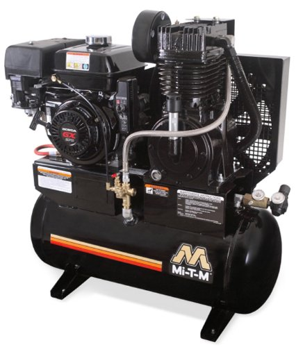 Mi-T-M AM2-SH09-20M Stationary Air Compressor, 20-Gallon, Two Stage with Gasoline by Mi-T-M