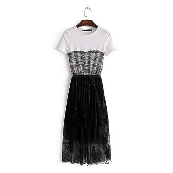 Smx Vestidos vestidos de noche Mujeres Casual Mini Vestido vestidos de gasa  Vestido de verano Moda AtractivaVestido encaje Vestido de manga corta en el  ... 041545d9cf09