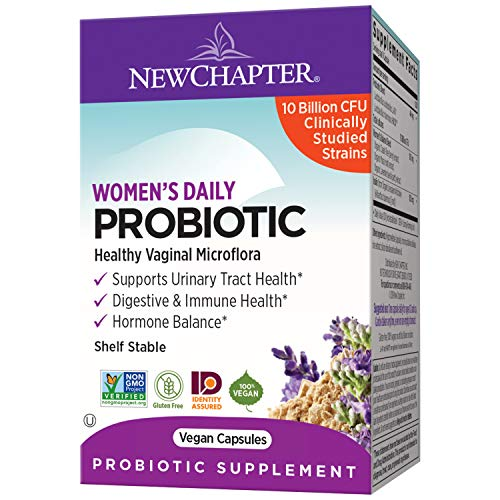 New Chapter Probiotics for Women, 60ct, Women's Daily Probiotic with Prebiotics and Probiotics + 100% Vegan + Soy Free + Non-GMO