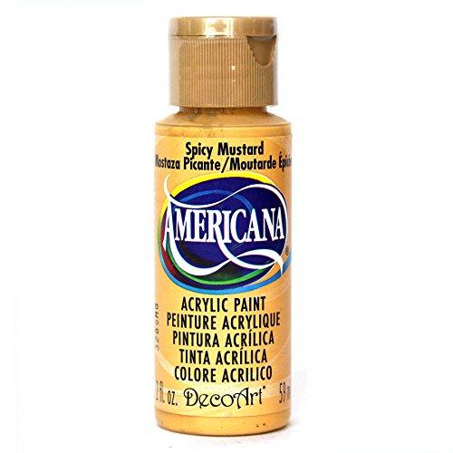 DecoArt Americana Acrylic Paint, 2-Ounce, Spicy Mustard ()