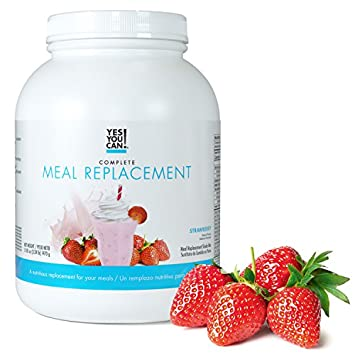 Yes You Can Complete Meal Replacement, Up to 2 Meals a Day, Helps Lose Weight – Sustituto de Comida Completo con Prote na para Perder Peso 30 Servings, 3.24 Lb – 1470 g , Strawberry Flavor
