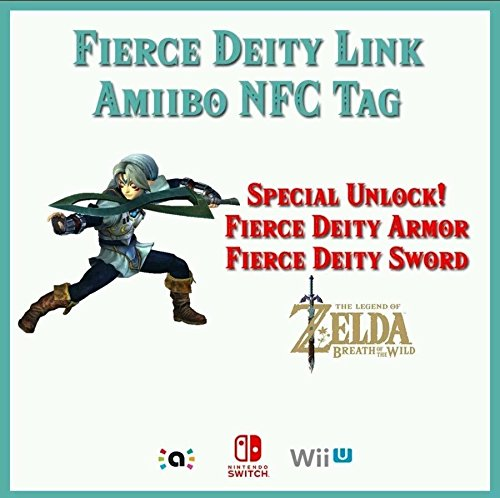 Fierce Deity Link (Majora's Mask) Customized Amiibo NFC Tag Card