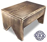 SB Handmade Rustic Step Stool - Charcoal (18'')