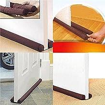 Brown Twin Door Draft Dodger Guard Stopper Energy Saving Protector Doorstop For Door Accessories.