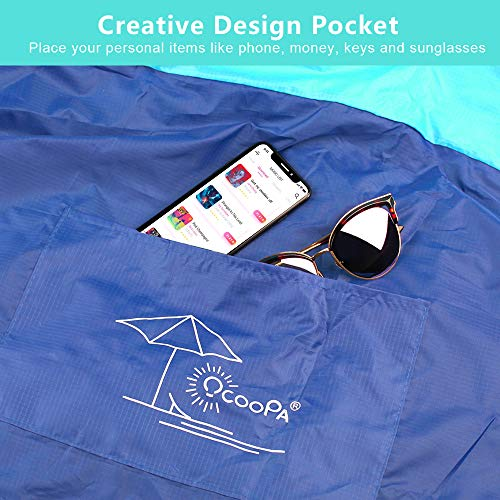 Beach Blanket Tempest Musical: OCOOPA Sandfree Beach Blanket 6.5'X 6.5', Soft Pocket