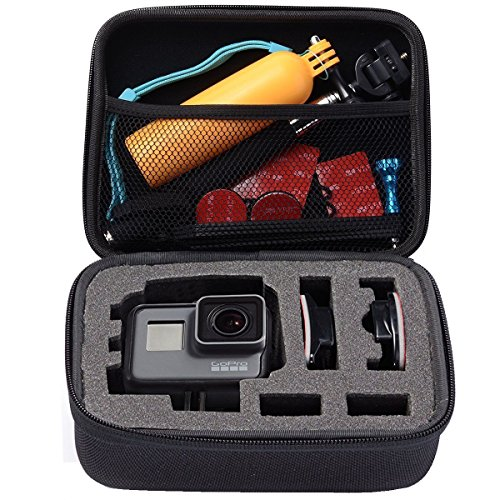 TraderPlus Anti-impact Portable Travel Gopro Bag Carrying Case Organizer for AKASO EK5000 EK7000 4K WIFI Action Camera Gopro Hero 6, 5, 4, 3+, 3, 2, 1 Accessories