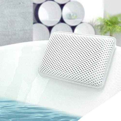 Bath Pillows for Tub Waterproof Bathtub Pillows Non-Slip Neck Pillow for Hot Tub, Massage, Luxury Bath Head Pillows Spa Pillow With 8 Strong Suction Cups ()