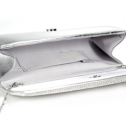 Evening Case Hard Diamond Silver Bag Beaded 2 Girly Small Wedding New Handbags Varnished Clutch Diamond wnAxqnBYaH