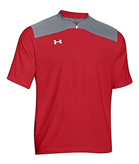 Under Armour Men S Triumph Cage Jacket Small Red Silver At Amazon
