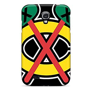 Samsung Galaxy S4 Lyl20038Yqts Special Colorful Design Chicago Blackhawks Pictures Shock-Absorbing Cell-phone Hard Covers -IanJoeyPatricia