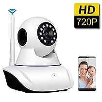 LNSEA 720P Wireless IP Camera, WiFi Home Security Surveillance Camera for Baby /Elder/ Pet/Nanny Monitor, Pan/Tilt, Two-Way Audio & Night Vision