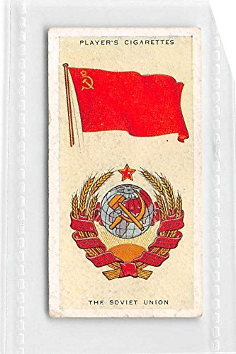 The Soviet Union - USSR 1936 Player Cigarettes National Flags and Arms #40 (GOOD+) light back ()