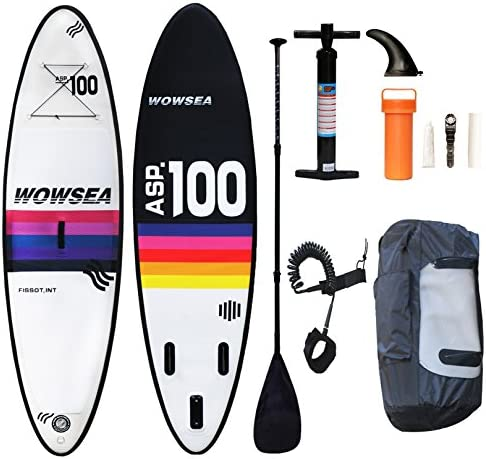 WOWSEA Tabla Hinchable Paddle Surf/ SUP Paddel Surf con Inflador ...