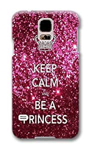 Samsung Galaxy S5 I9600 Case Color Works Keep Calm And Be a Princess Theme PC Hard Case For Samsung Galaxy S5 I9600 Phone Case