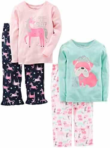 Simple Joys by Carter's Girls' Toddler 4-Piece Pajama Set