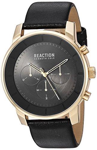 Kenneth Cole REACTION Men's Quartz Metal Casual Watch, Color:Black (Model: RK50082005)