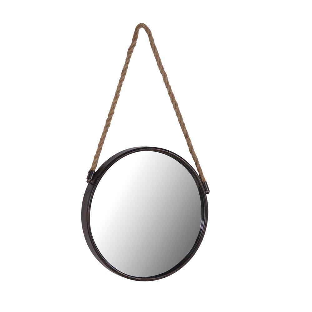 Tutti Decor Black Metal Round Cruise Mirror