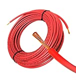 100FT Solar PV Cable, 8 AWG, 2000V Wire, UL 4703 Listed, Copper, PV Approved & Sunlight Resistant, RED Color Review