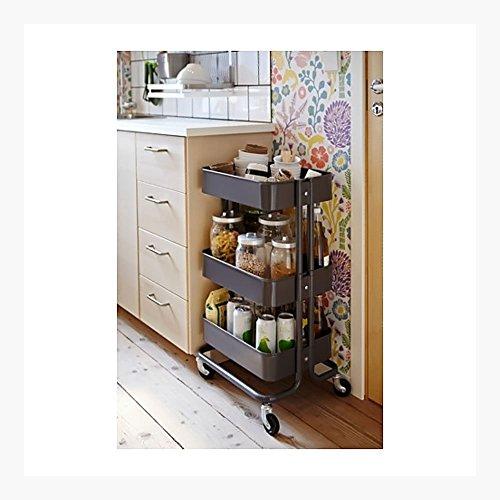 RÅSKOG Kitchen Cart, Gray