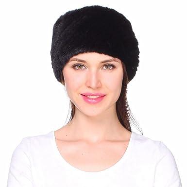 Ferand Women s Genuine Mink Knitted Fur Winter Headband Neck Warmer Scarf 5e4553e22e6
