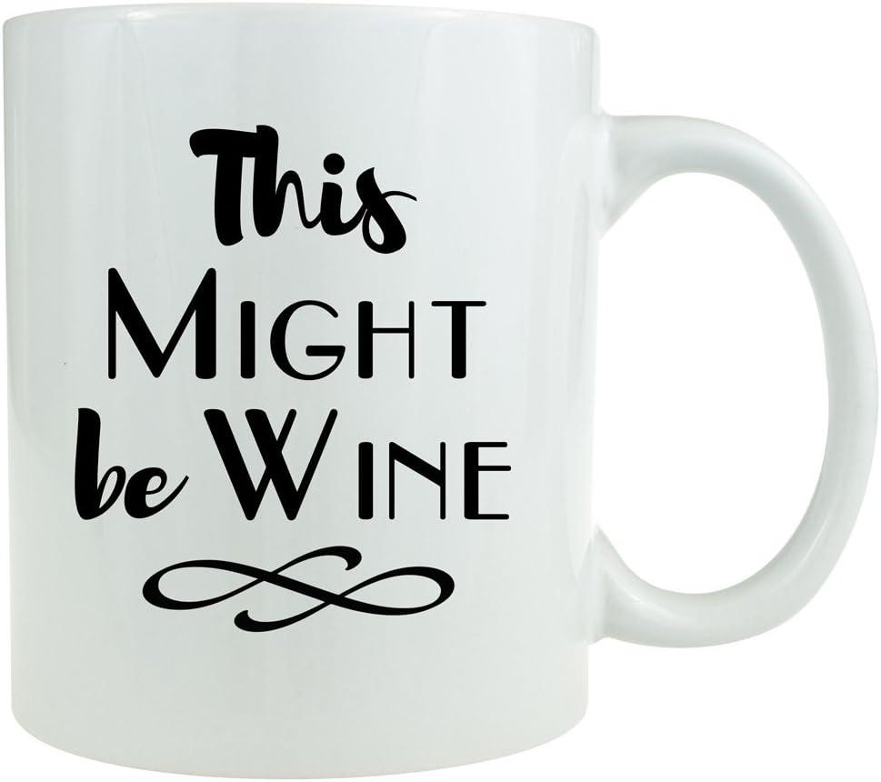 This Might Be Wine Monogram Coffee Mug Decal