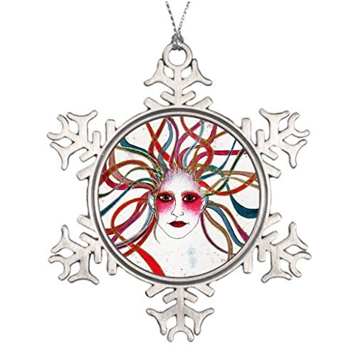 Ideas For Decorating Christmas Trees Colorful Blank One size Christmas Snowflake Ornaments