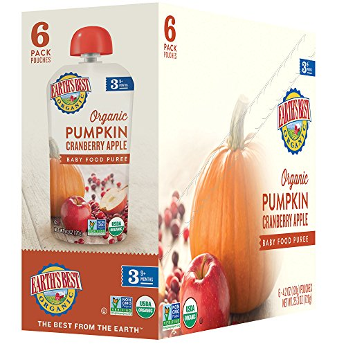 Earth's Best Organic Stage 3, Pumpkin, Cranberry & Apple, 4.2 Ounce Pouch (Pack of 12) (Packaging May Vary) by Earth's Best (Image #4)'