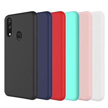 CoqueCase 6X Funda Huawei P Smart 2019 Silicona Suave Flexible Antigolpes Ultrafina Goma Case Ultra Delgado Caso Color Cubierta Protector Bumper Case ...