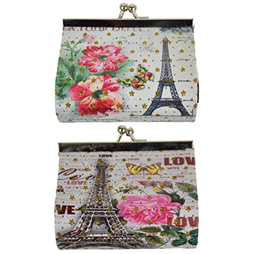 Coin Purse with Eiffel Tower - Set of 2 - La Tour Eiffel & Love (Tour Eiffel Bags)