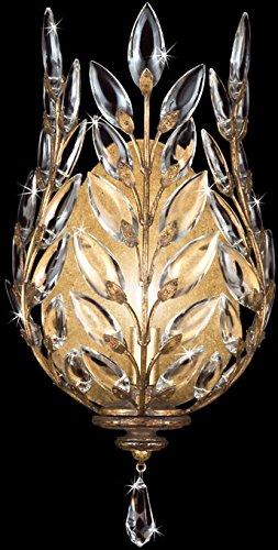 Gold Crystal Laurel Chandelier (Fine Art Lamps 773850, Crystal Laurel Crystal Wall Sconce Lighting, 1 Light, 60 Total Watts, Gold)