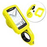 Tuff-luv 3 in 1 Combo Silicone Gel Skin Case and Screen Cover for Garmin Edge 820 with Out-Front Handlebar Mount - Yellow