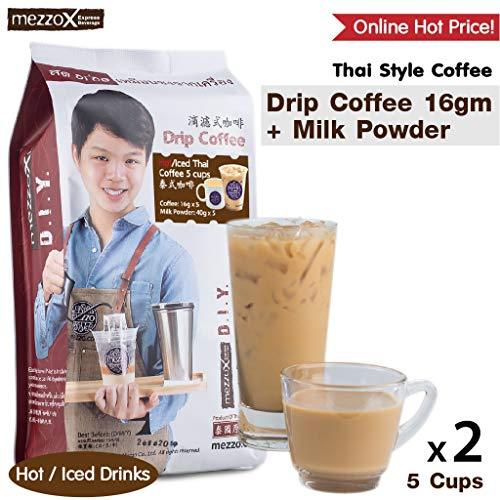MezzoX Fresh &Healthy Thai Drip Coffee (Original Pack (5 Servings)) (Pack of 6 (30 Servings))