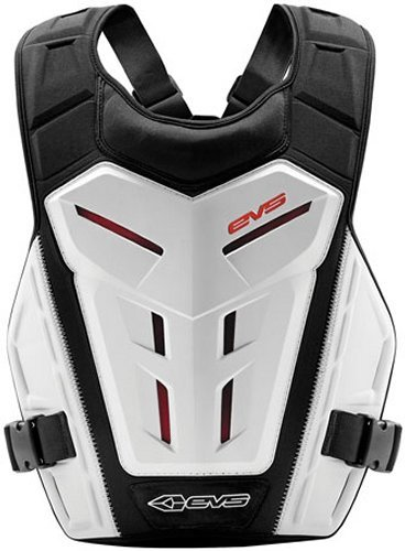 Protector Roost Guard (EVS Revolution 4 Roost Guard Chest Protector Phantom White One Size)
