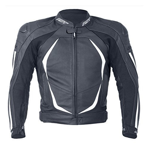 Price comparison product image RST Ladies Blade II Leather Motorcycle / Motorbike Sports Jacket - White / Black 20