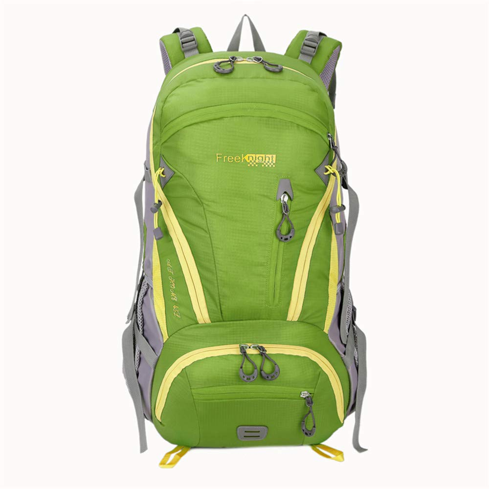 TechCode Laptop Bag, 45L High-Performance Travel Backpack Internal Frame Hiking Backpack Waterproof Outdoor Rucksack Lightweight Pack for Running Riding Camping Cycling Climbing Fits Adults(Green)