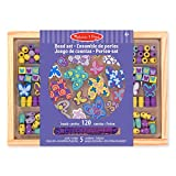 Melissa & Doug Butterfly Friends Bead Set, Arts & Crafts, Handy Wooden Tray, 120 Beads and 5 Colored Cords