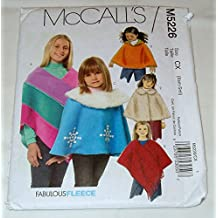 Childs Poncho Sewing Pattern McCall M 5226 Size XS-S 3-6
