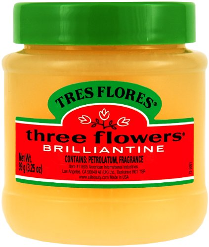 Three Flowers Brilliantine Solid, 3.25-Ounce (Pack of 3) ()