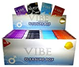VIBE Condoms - 3 Packs - Variety Pack - Bulk Bundle - (12) Extra Sensation + (12) Classic + (12) Goliath + (12) Ultra Thin = Total 144 Condoms!!!
