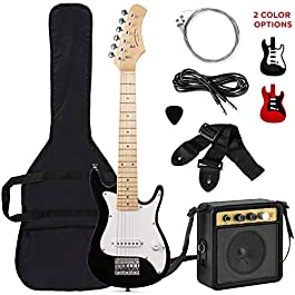 Best Choice Products 30in Kids Electric Guitar Beginner Starter Kit with 5W Amplifier, Strap, Case, Strings, Picks…