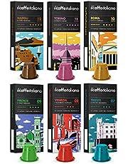 Il Caffè Italiano - Nespresso 120 kompatibla kapslar - Tour of Italy Tasting Kit med olika intensiteter - Frhome