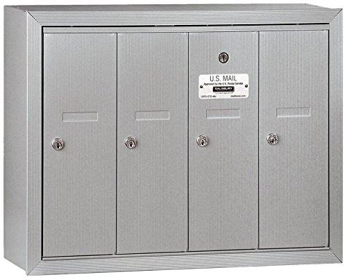 4 Door Aluminum Mailbox - 6